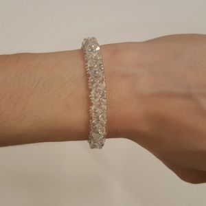 Swarovski crystal hand made bracelet 6.5 inches